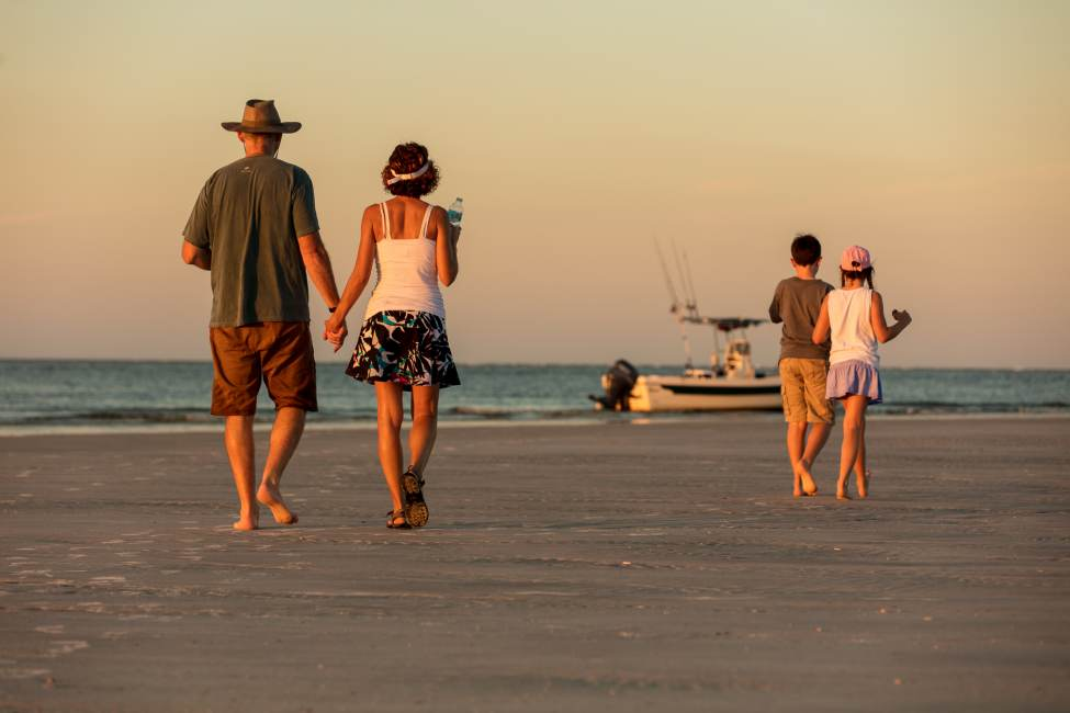 A family on the Jacksonville Beach